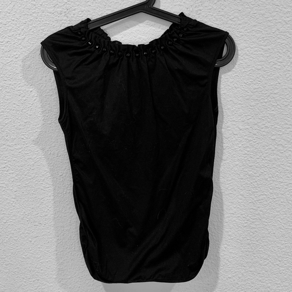 Dolce & Gabbana Tops - D&G Dolce and Gabbana Black cinch neck top blouse